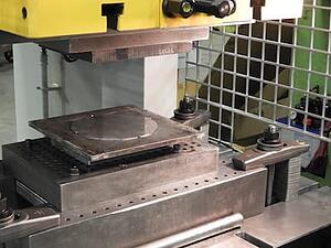 Press Brake with Part
